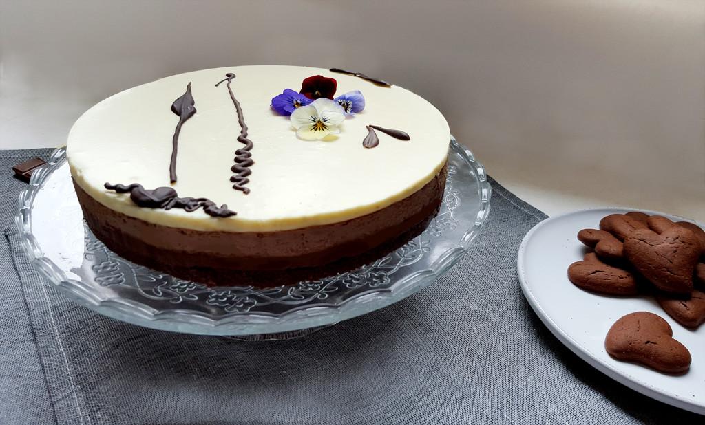 Cheesecake triplo cioccolato
