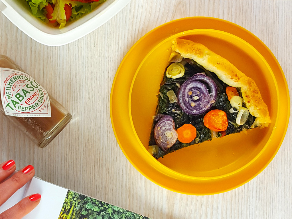 Torta-salata-con-erbette-rondelle-di-verdure02