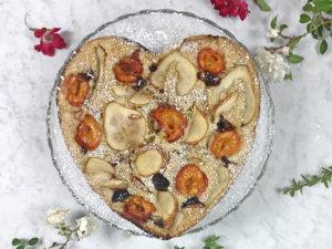 Torta grano saraceno e frutta senza burro
