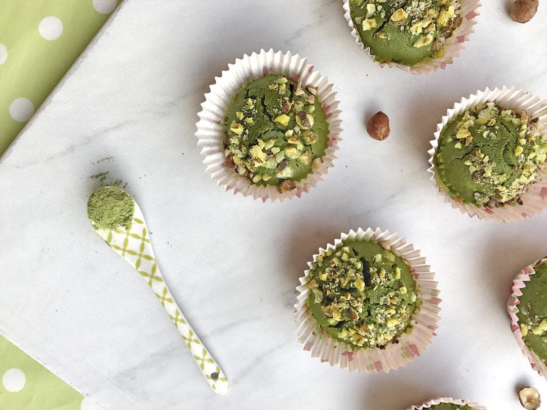 Muffin al tè macha_unpizzicodiviol